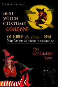 Best Witch Costume Contest Poster