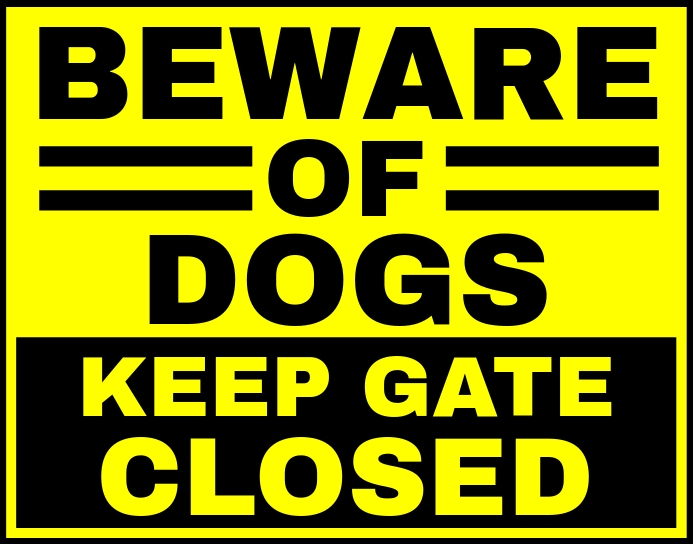 Beware of Dogs Sign Board Template Poster/Wallboard