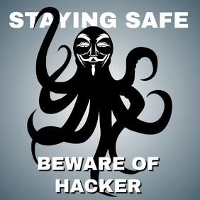 Beware of Hacker Template