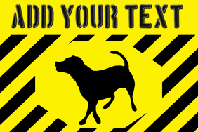 beware - warning for the Labrador breed dog gate sign