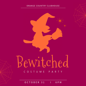 Bewitched Halloween Instagram Party Template