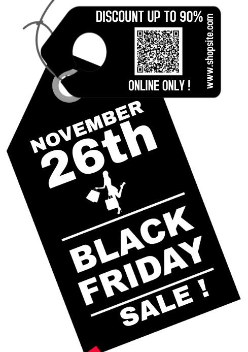 Black Friday 2020 A4 POSTER template