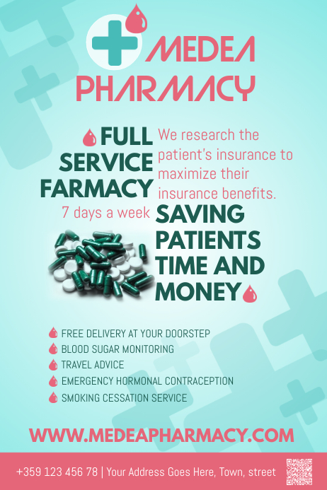 Pharmacy Poster Template Cartaz