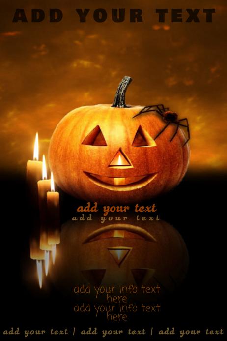 Halloween Haunted Autumn Fall Spooky Jack O Lantern Event Invite Poster Flyer