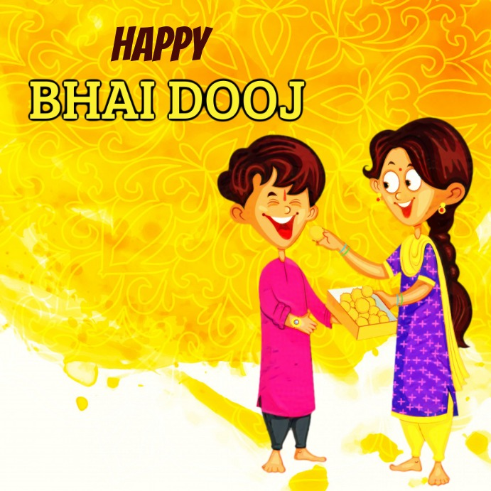 Bhai Dooj Message Instagram template