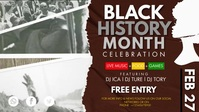BHM Black History Celebration Facebook Cover Facebook-covervideo (16:9) template