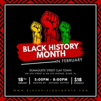 BHM Black History Month Conference Instagram template