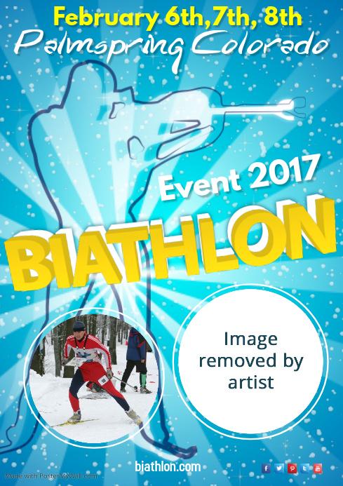 Biathlon Event Poster