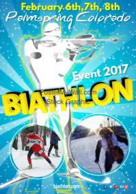 Biathlon Event Poster Template