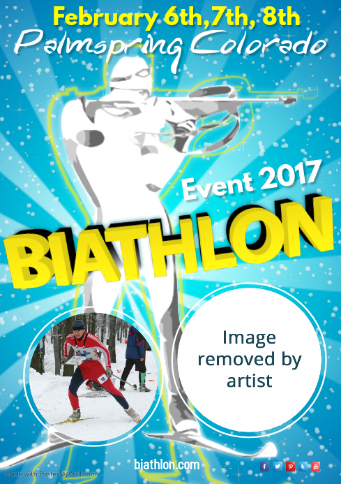 Biathlon Event Poster Template