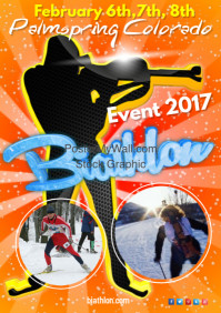 Biathlon Poster template