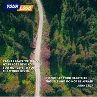 Bible peace quote Publicação no Instagram template