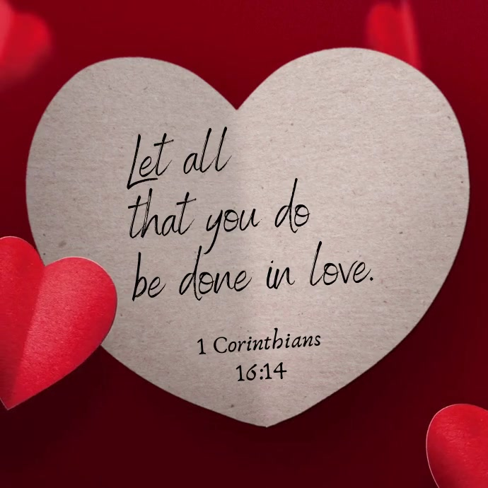 Bible quote falling hearts love video post