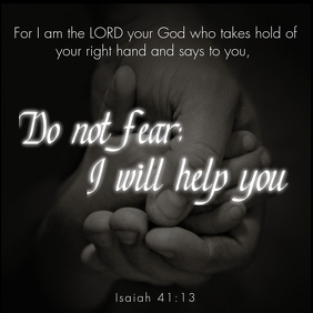 Bible Quote Isaiah 41:13 方形(1:1) template