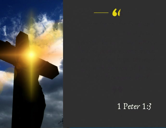 Bible quote resurrection easter Peter 1:3 Folder (US Letter) template