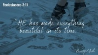 Bible quote verse blog video header template