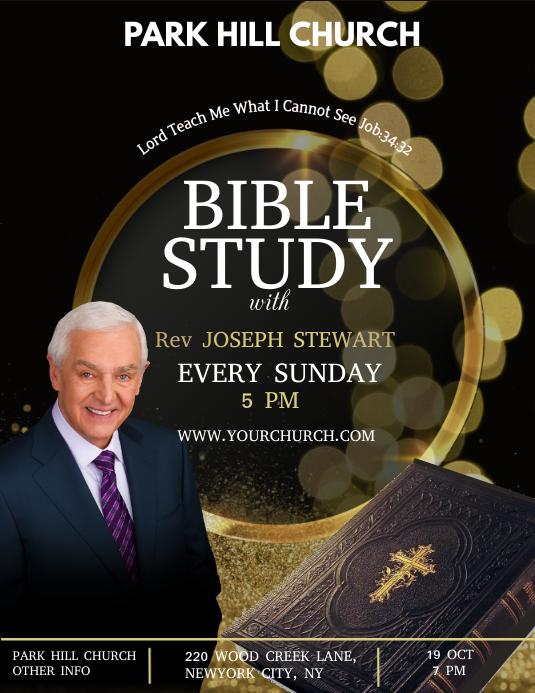 Bible study, online Bible study Folder (US Letter) template