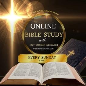 Bible study, online Bible study Instagram-Beitrag template