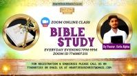 bible study, zoom online class, bible on zoom Digital Display (16:9) template