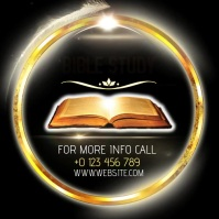 BIBLE STUDY AD INSTAGRAM template