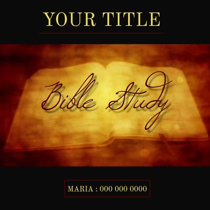 BIBLE STUDY AD VIDEO TEMPLATE 徽标