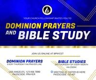 Bible Study and Prayer Fellowship Medium Rectangle template