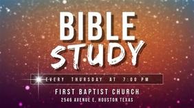 Bible study at church Affichage numérique (16:9) template