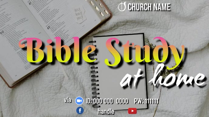 Bible Study at Home YouTube 缩略图 template