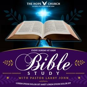 BIBLE STUDY BANNER Publicação no Instagram template