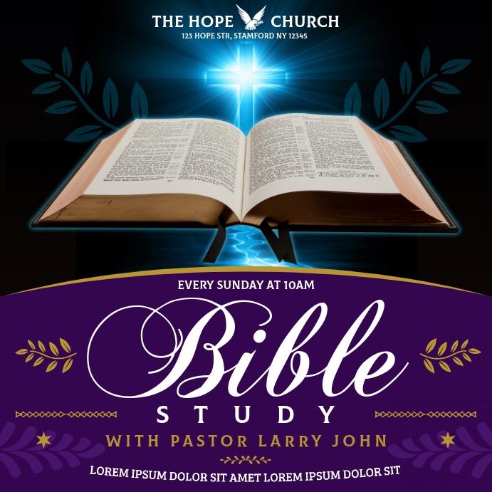 BIBLE STUDY BANNER Instagram 帖子 template