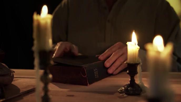 Bible study Christian man video YouTube 缩略图 template