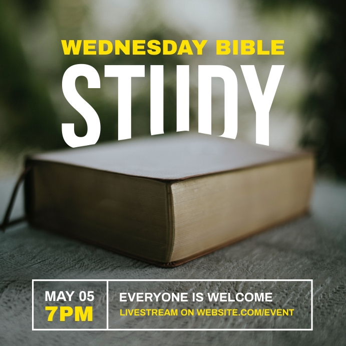 bible study church Instagram 帖子 template