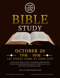 Bible Study Church Flyer