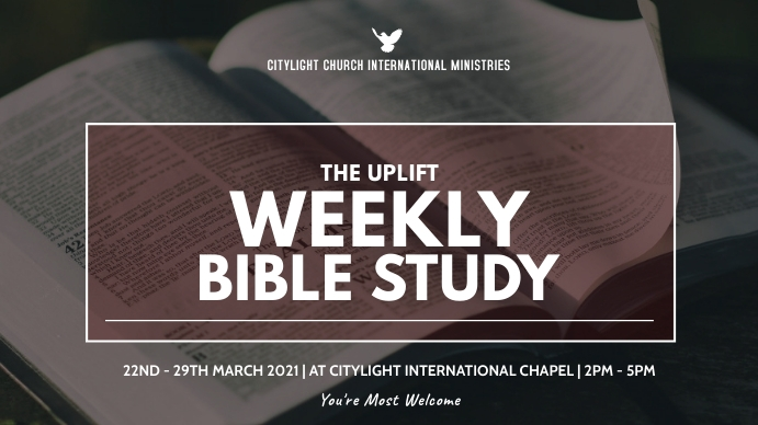 BIBLE STUDY CHURCH flyer Pantalla Digital (16:9) template