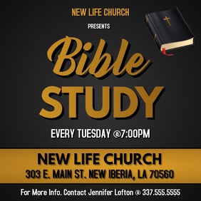 BIBLE STUDY CHURCH FLYER