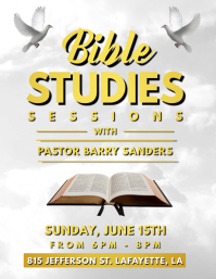 BIBLE STUDY CHURCH FLYER TEMPLATE