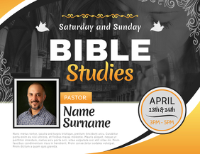 Bible Study Church Landscape Flyer