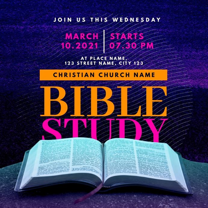bible study class church instagram template