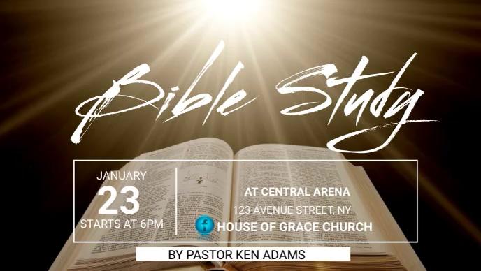 BIBLE STUDY Facebook 封面视频 (16:9) template