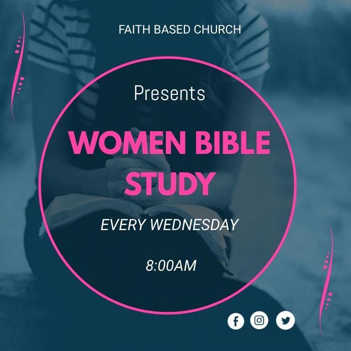 Bible Study 方形(1:1) template