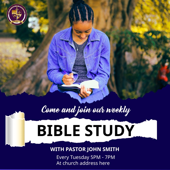 Bible study Instagram 帖子 template