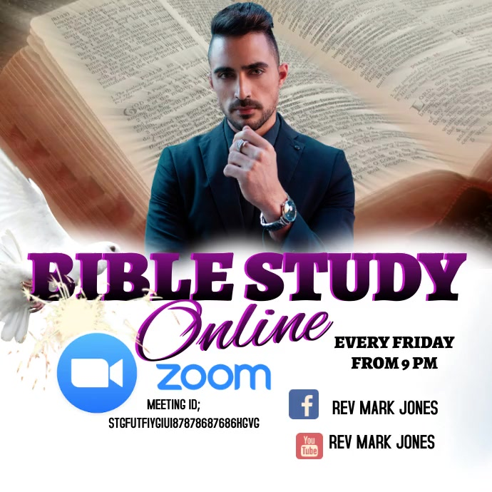 BIBLE STUDY Pos Instagram template