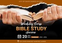 bible study Postcard template