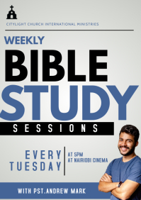 Bible Study A3 template