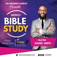Bible study Publicação no Instagram template