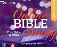 bible study Medium Rectangle template
