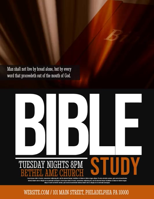 bible study Flyer (US Letter) template
