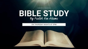 Bible Study Digital Display Template template Affichage numérique (16:9)