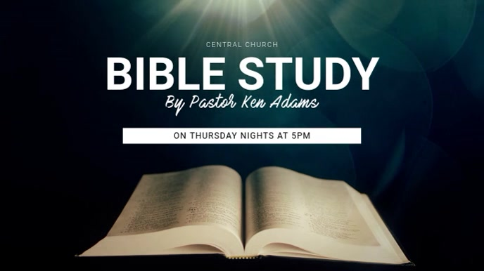 Bible Study Digital Display Template template Digitalanzeige (16:9)