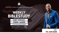bible study flyer Digitalt display (16:9) template